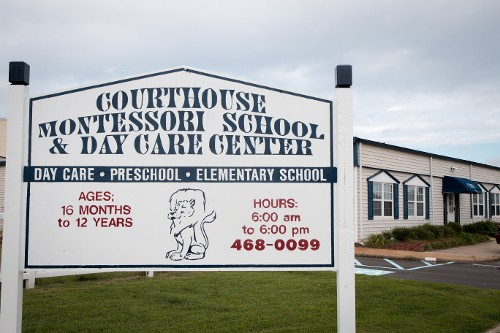 Montessori School & Day Care Sign